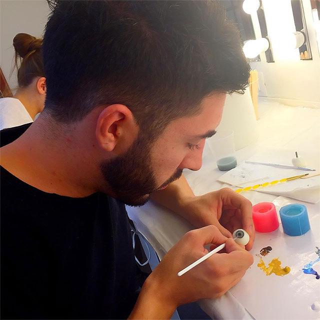 Make up effetti speciali: Master riproduzione bulbo oculare