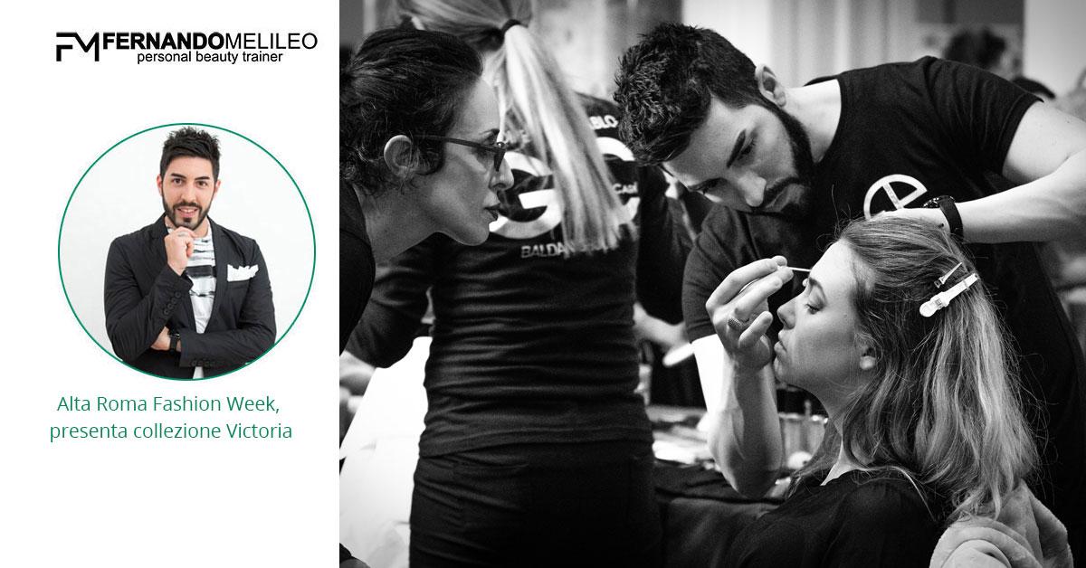 Alta Roma Fashion Week, presenta collezione Victoria