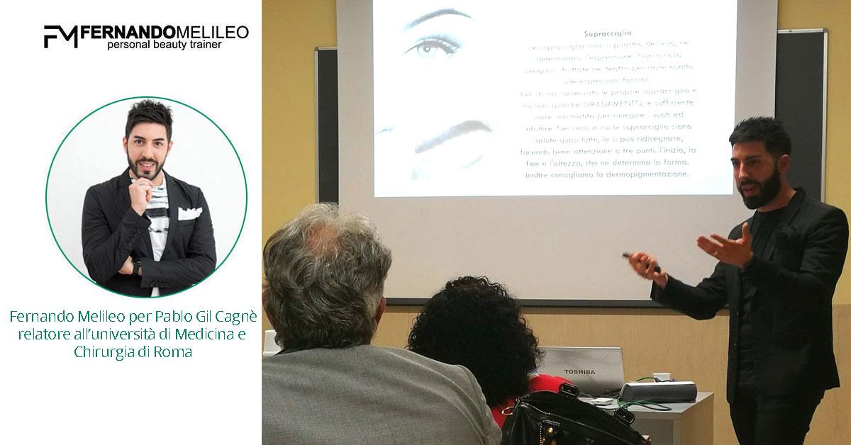 Fernando Melileo per Pablo Gil Cagnè relatore all'università di Medicina e Chirurgia di Roma
