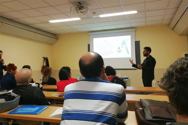 Fernando Melileo a lezione di Medicina Estetica a Tor Vergata